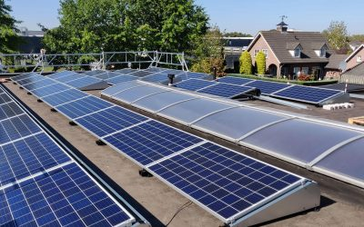 Montage van zonnepanelen